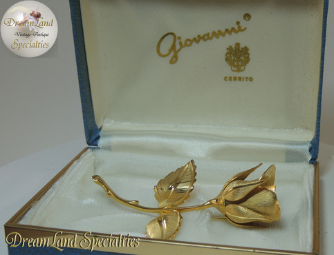 Vintage Giovanni Cerrito Rose Brooch In Box On Storenvy
