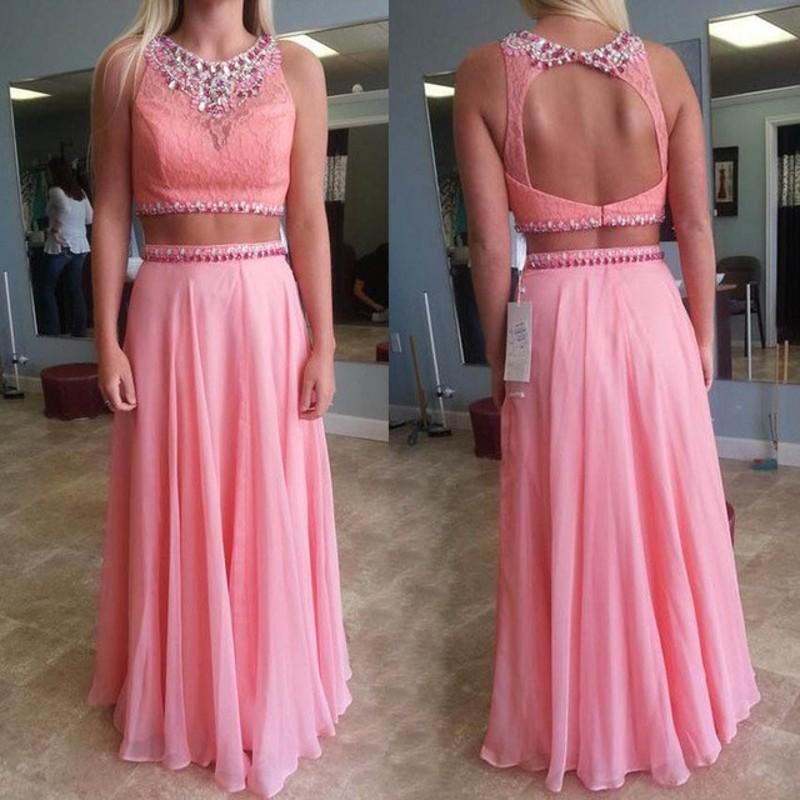 Charming Prom Dress, Sleeveless Beaded Prom Dress, Elegant Evening ...