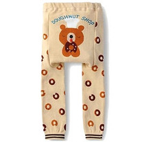 Bear with Donuts Unisex Boy Girls Legging Pants from baby size 3mos to toddler 4T