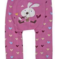 Bunny with Flute and Hearts Design Legging Pants Tights for Girls Baby 3 mos to Toddler Kids 4T