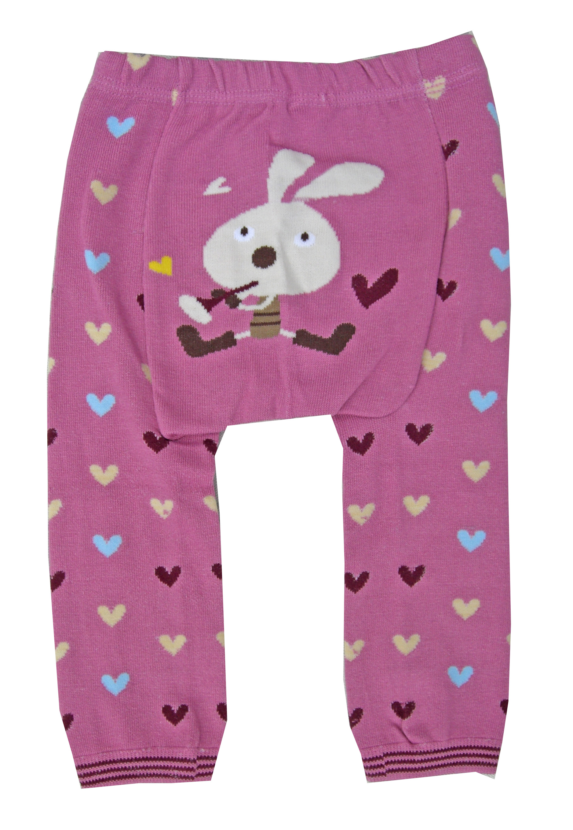 Bunny_with_flute_and_hearts_legging_pants_for_kids_girls_baby_original