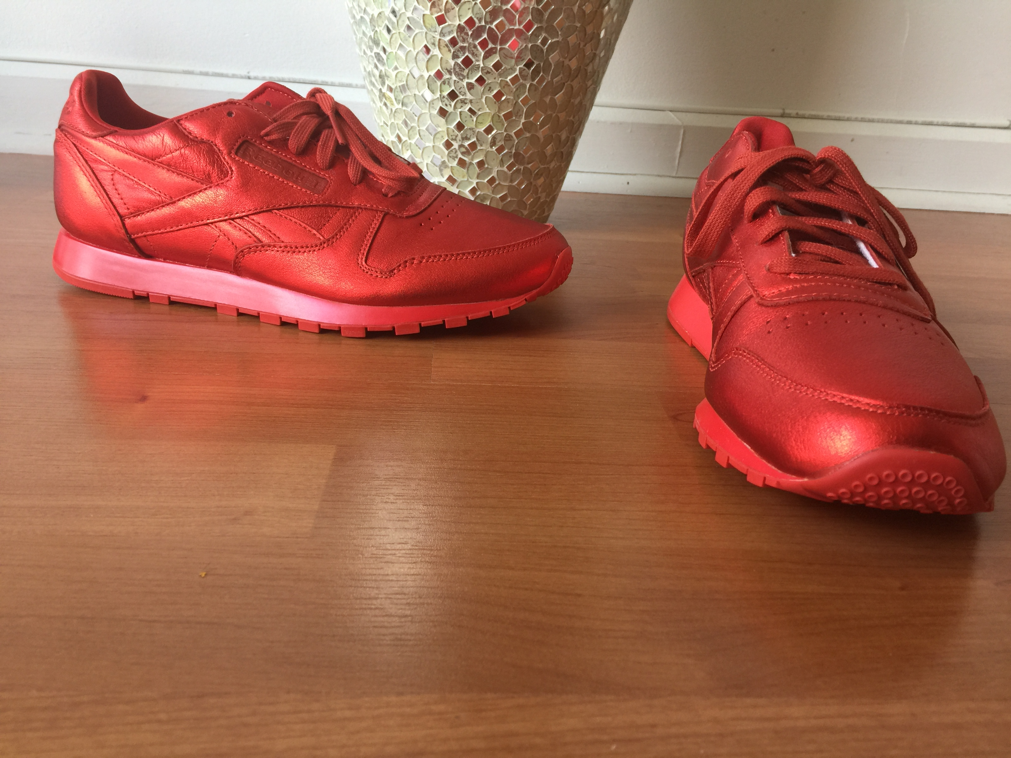 reebok x face. reebok x face stockholm metallic red sneakers