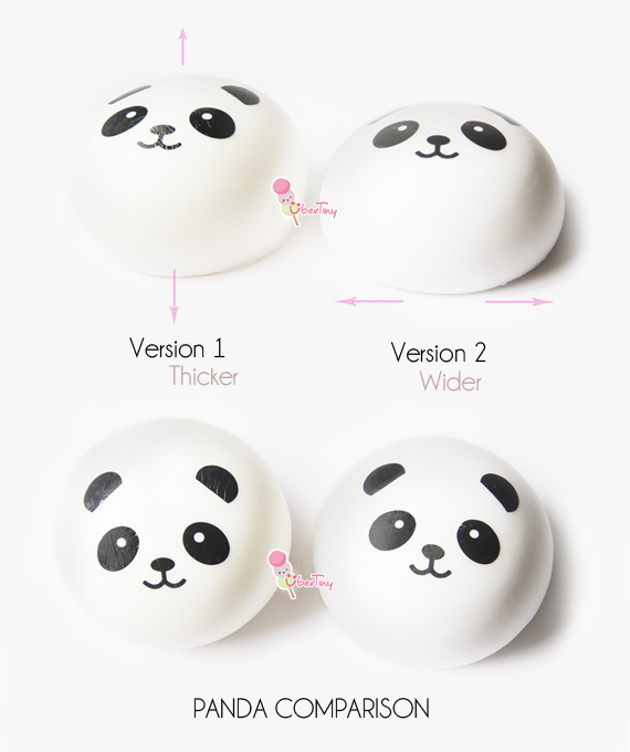 Squishy Jumbo Panda 10 Cm : 10cm Jumbo Panda Squishy Bun ? Uber Tiny ? Online Store Powered by Storenvy