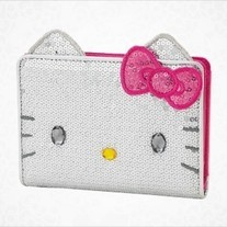 Hello Kitty Silver Sequin Wallet