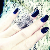 Filigree Knuckle Ring Midi Ring Adjustable Three color choices - Thumbnail 1