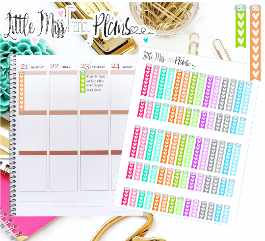 heart checklist flags welephant peekaboo erin condren happy planner stickers personal