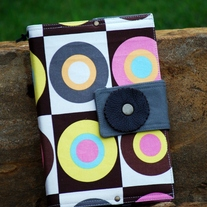 Fabric Covered A5 Journal - Retro Circles - RESERVED for Dreamers Markets