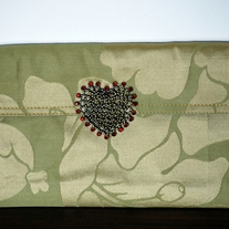Clutch Bag with Vintage Heart Pendant
