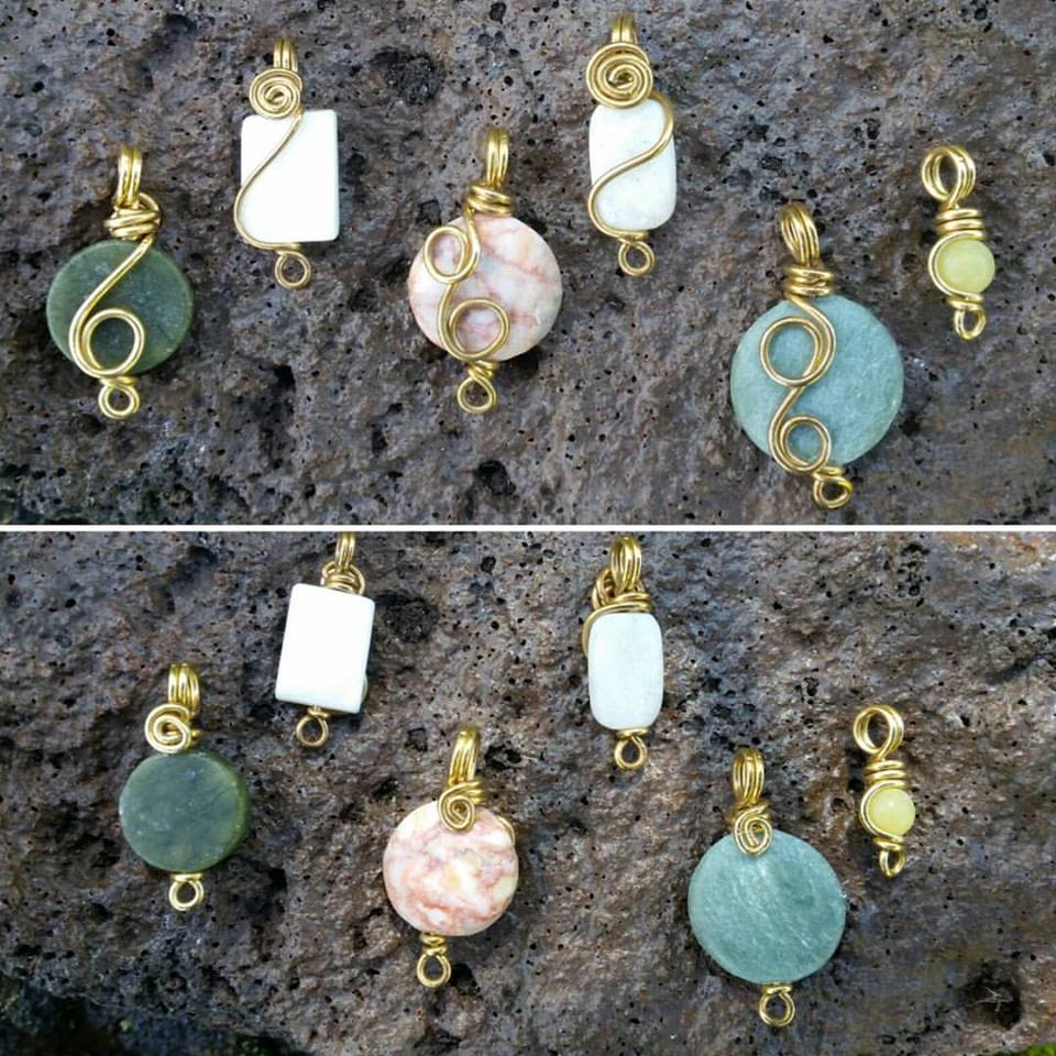 Mini Wire Wrapped Stones ~ Handmade in Hawaii · Handmade Wire ...