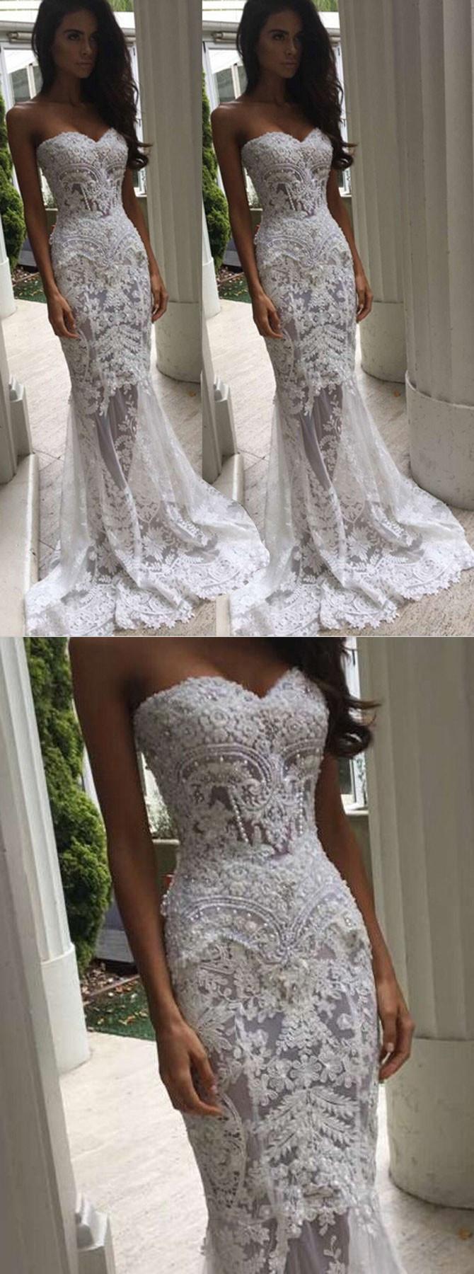 white wedding dresses,lace wedding dresses,mermaid wedding dresses ...