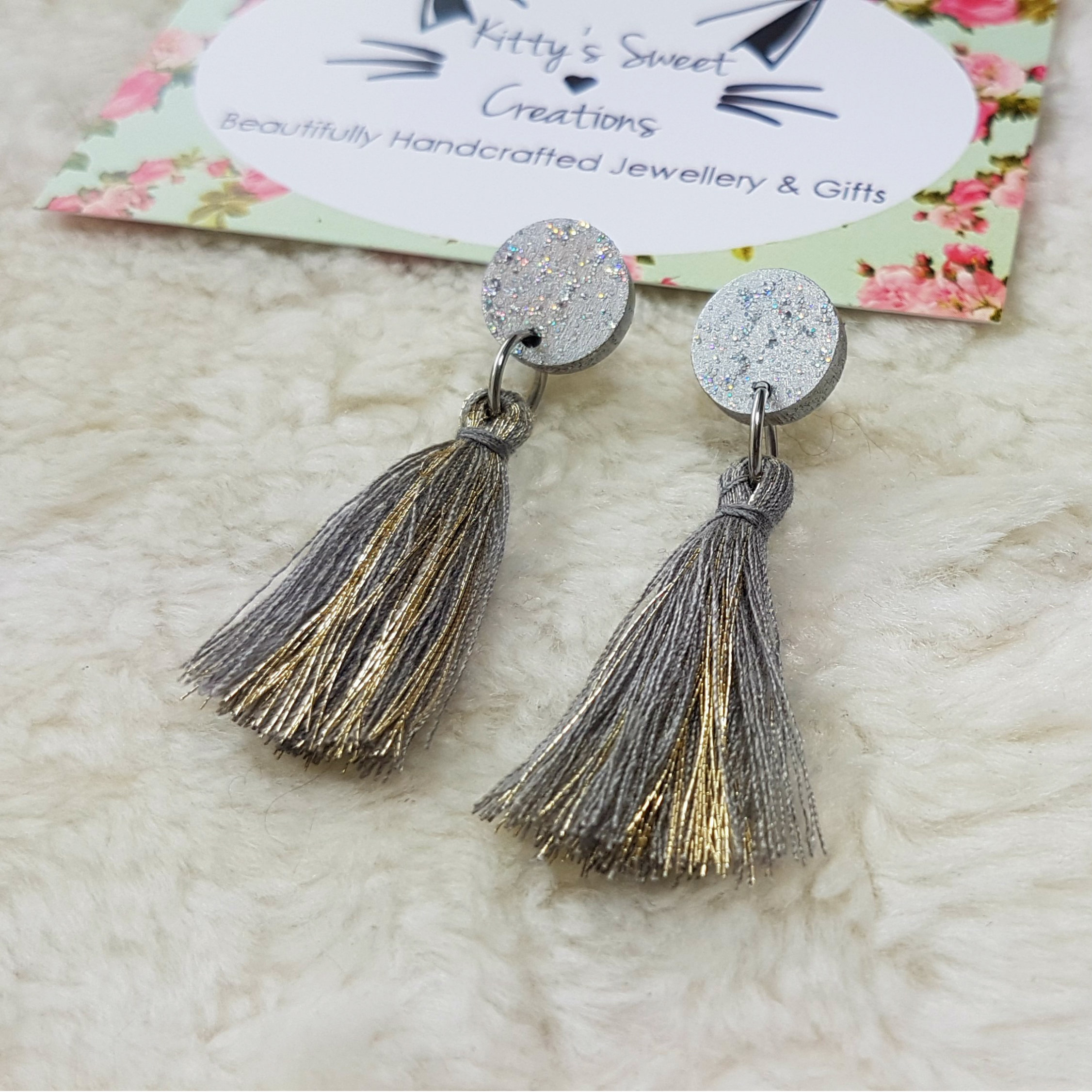 boutique tassle crystal en white happiness earrings tassel