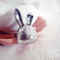 Silver Bunny Ring (Adjustable)