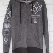 Sacred Geometry Merkaba Atlas Hoodie medium photo