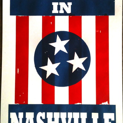 I believe in nashville (12x18 print)