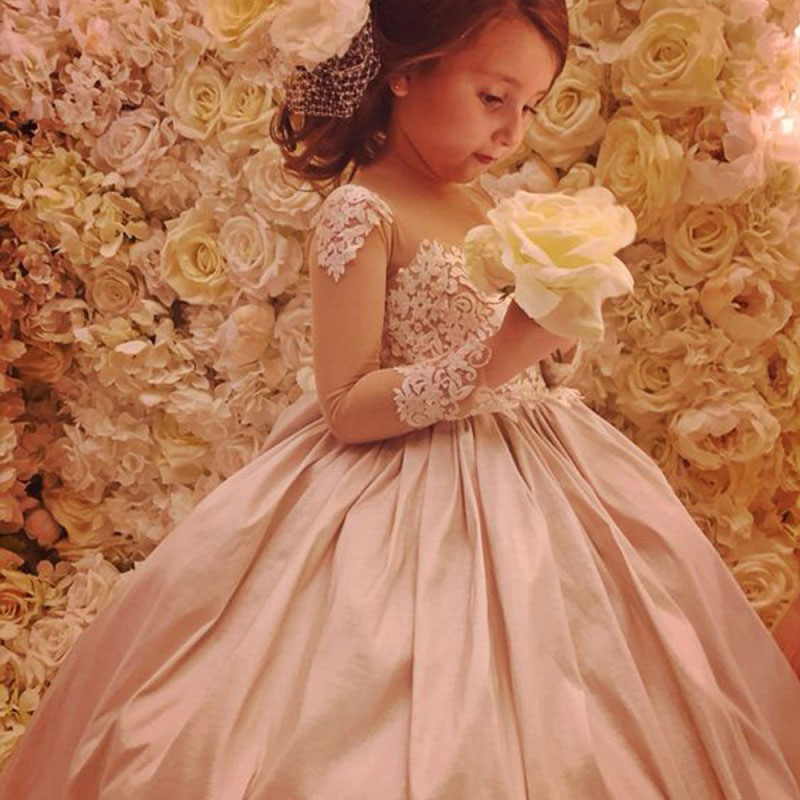Champagne Ball Gown Flower Girl Dress Birthday Dress for Kid ...