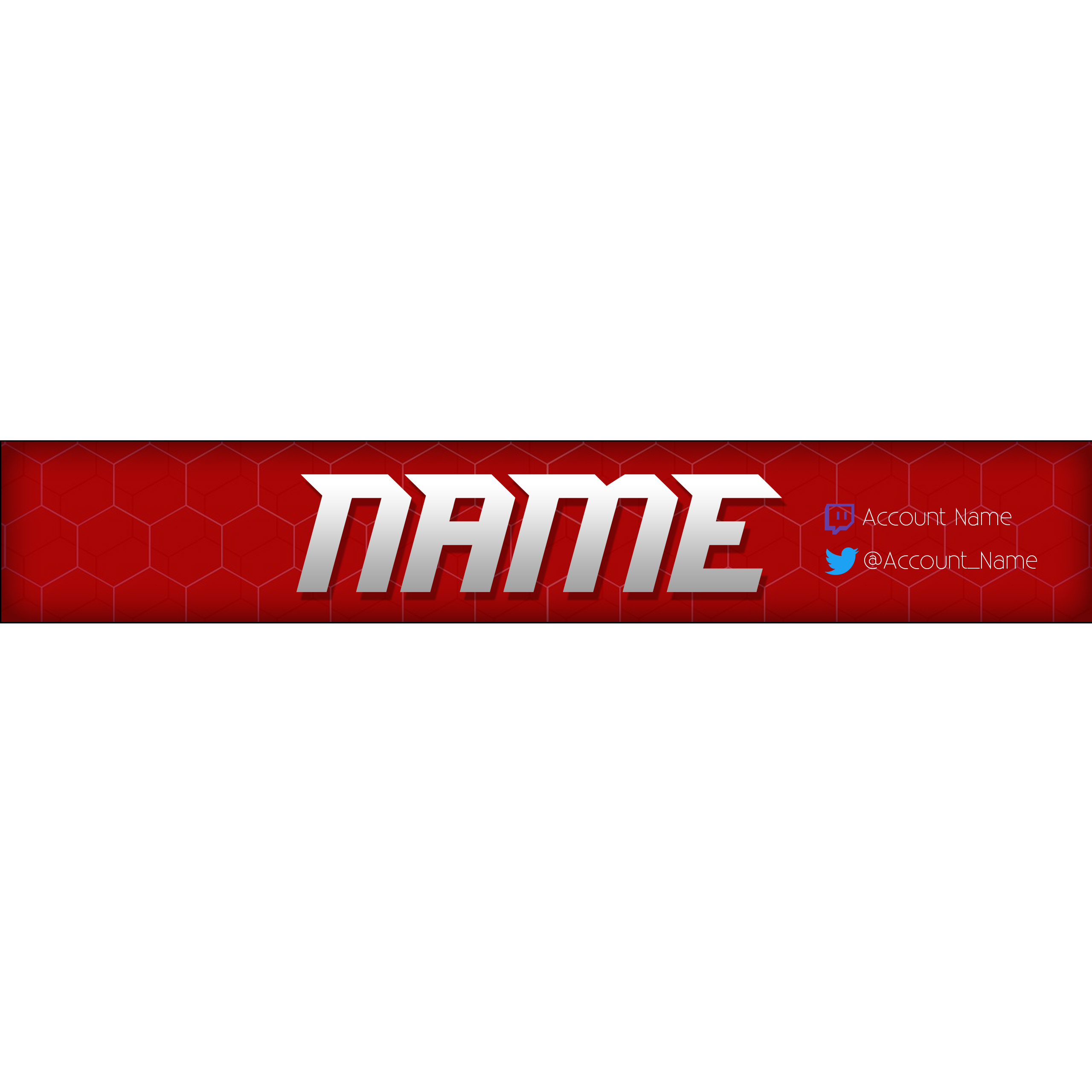 Simple Youtube Banner Template Redwhite Blitz Apparel Online