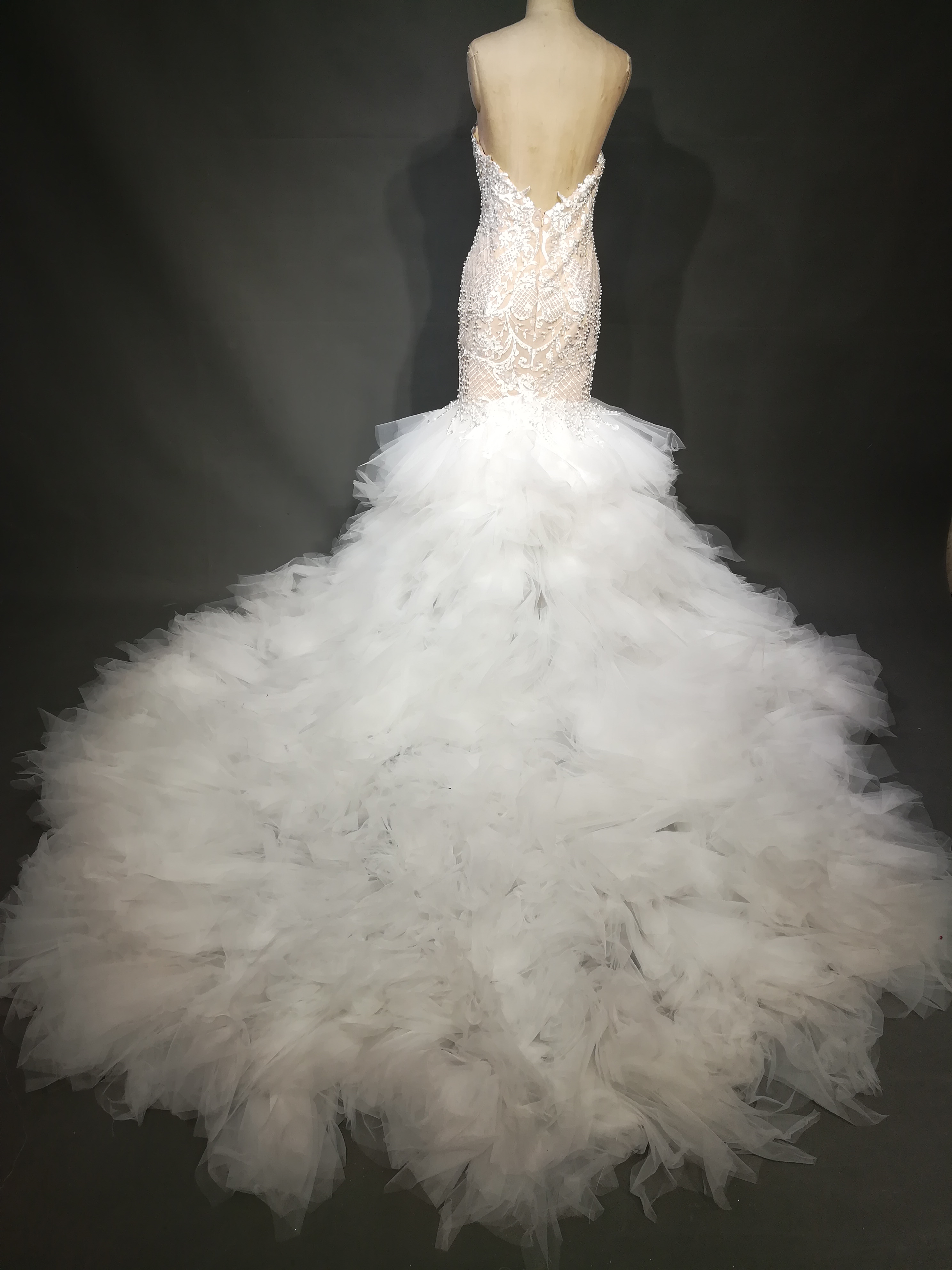 Darius Cordell fit-and-flare wedding dress inspired by J\'aton ...