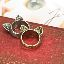 Brass Fox Ear Ring
