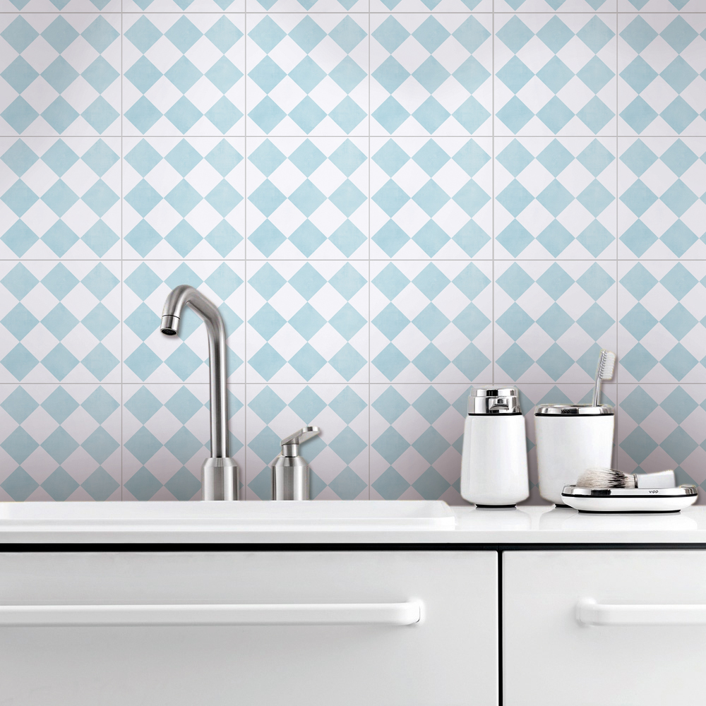 Stockholm Tile Stickers, Squares Pattern Tile Decal, Tiles for ...