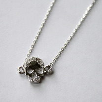 Mini Silver Skull Necklace