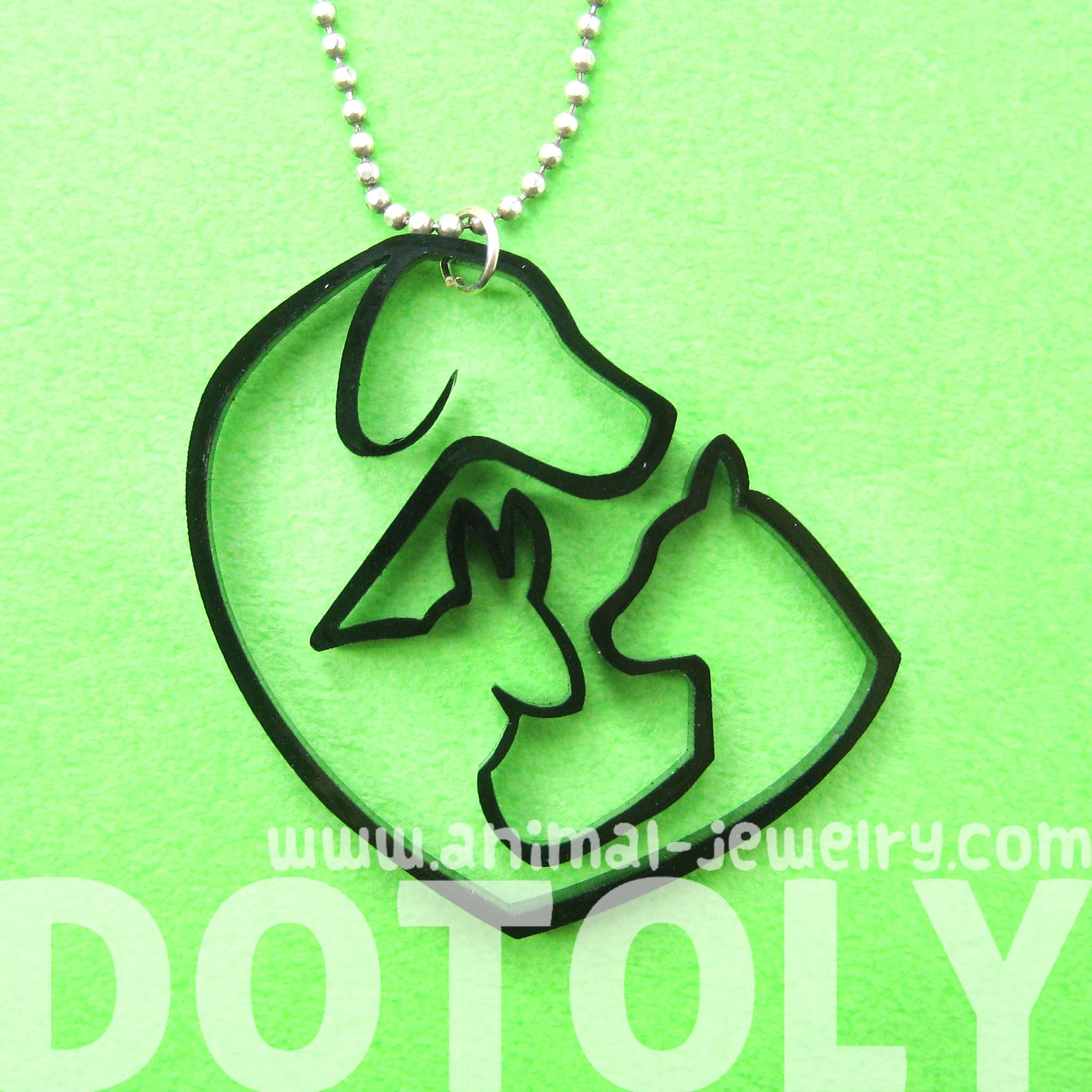 dotoly plus pet inspired dog cat and bunny animal charm outline