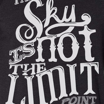 Sky is Not the Limit Raglan medium photo