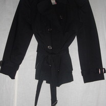 BURBERRY SHORT DOUBLE BREASTED TRENCH COAT Sz 4-6 us
