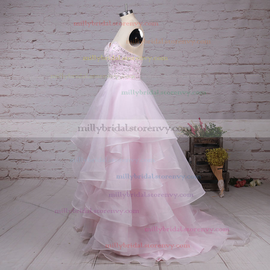 9728b2f9860a ... Trendy Prom Ball Gowns For Cheap,Ball Gown Sweetheart Long Evening  Dresses,Organza Formal ...