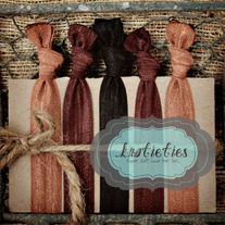 brunettes : original {knotieties} 10 pack