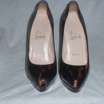 "AUTHENTIC NEW ""CHRISTIAN LOUBOUTIN BIANCA PATENT TURTLE"" 5 1/2..."