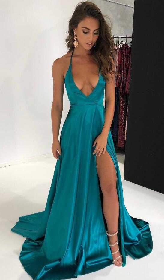 Sexy teal dress