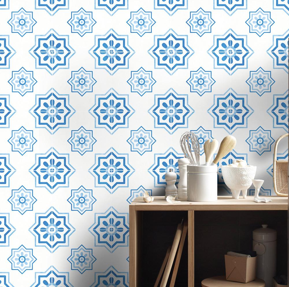 Málaga Tile Stickers, Mediterranean Tile Stickers, Tiles for Kitchen ...