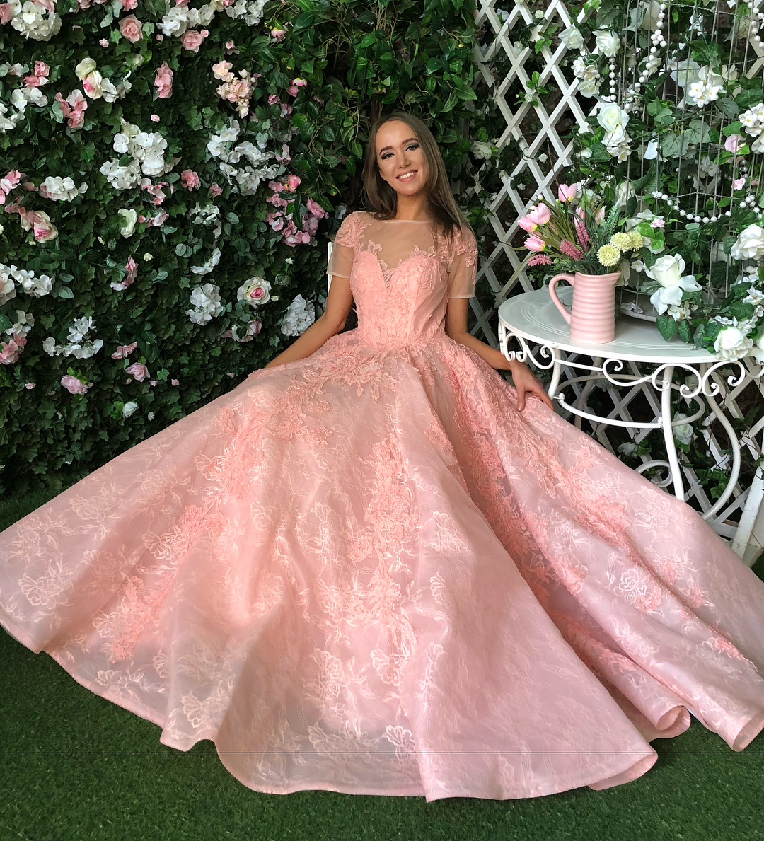 Pink Princess Prom Dress, High Quality Ball Gown, Long Party Dresses ...