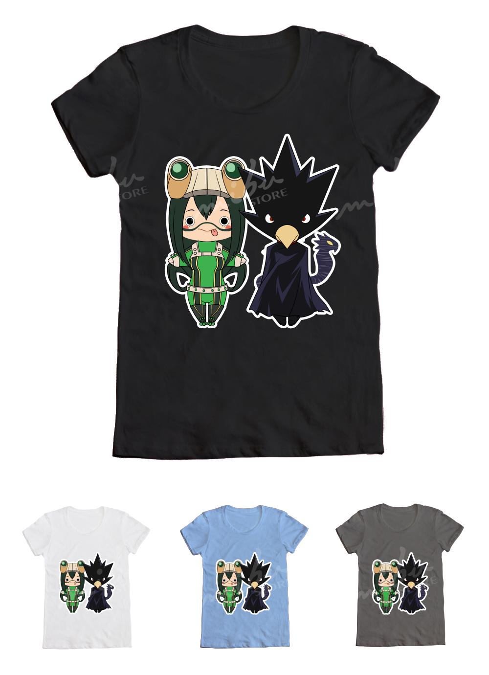 bnha tsuyu asui fumikage tokoyami t shirt
