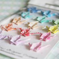 15 Multi-Rainbow Color Miniature Origami Cranes Set for Various Scale Dolls and Dollhouses