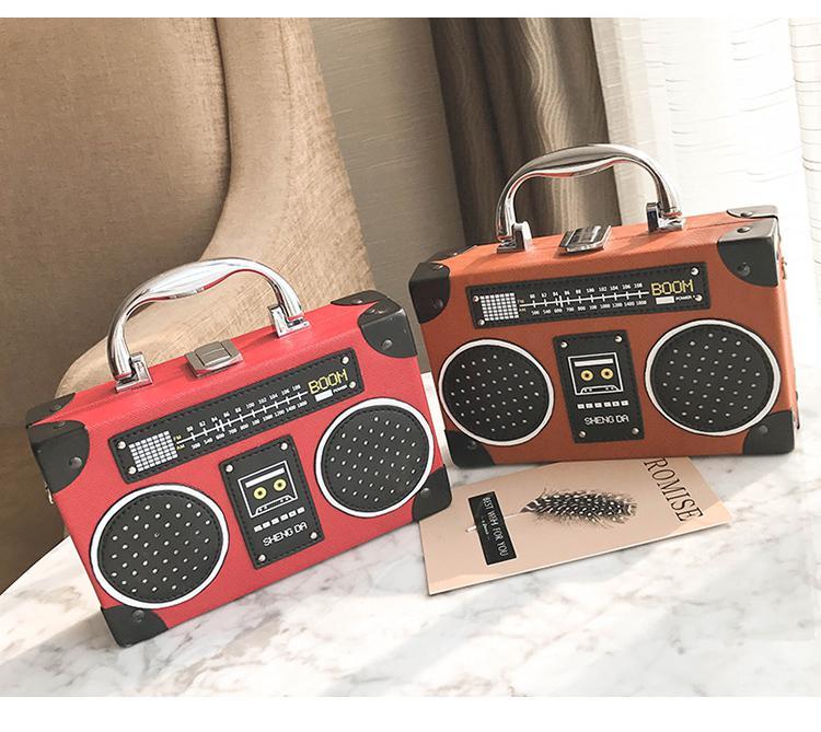 FREE Shipping Vintage Retro Radio Design Hand bag Cross body Bag ...