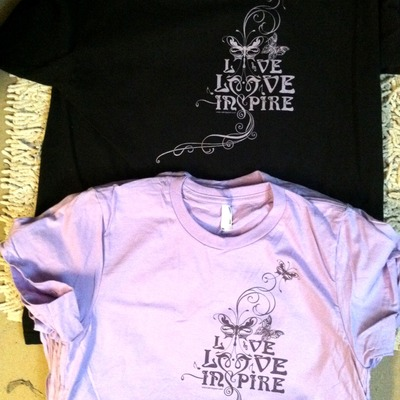 Women's black live love inspire t-shirt