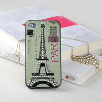 New Bling Bling Printed Type For iPhone 4/4S Design #618 Paris Eiffel Tower
