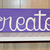 """create"" - Medium Purple"
