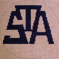 St. Albans Logo Ornament Canvas on 18 Mesh