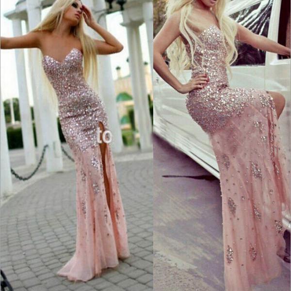 Lace Corset Long Sleeve Prom Dresses