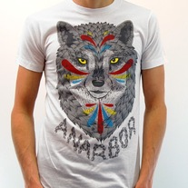 New Anarbor Wolf T-Shirt Size M