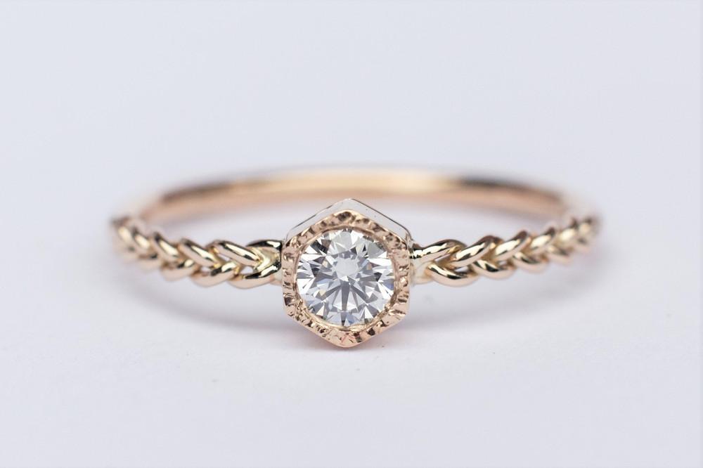 0 20ct Diamond Engagement Ring In 18k Rose Gold 18k Gold Ring