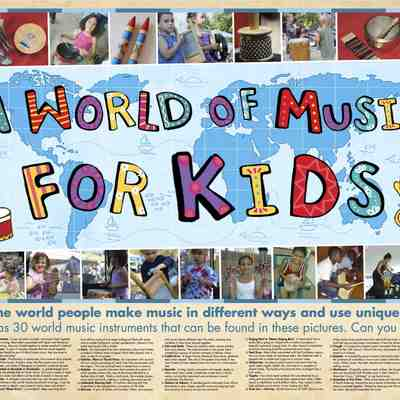 A world of music for kids - full color poster