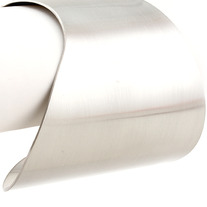 """The Minimalist"" Silver Smooth Arm Cuff"