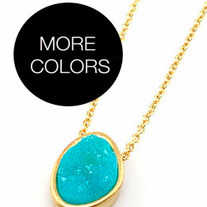 Mineralia Druzy Gold Necklace