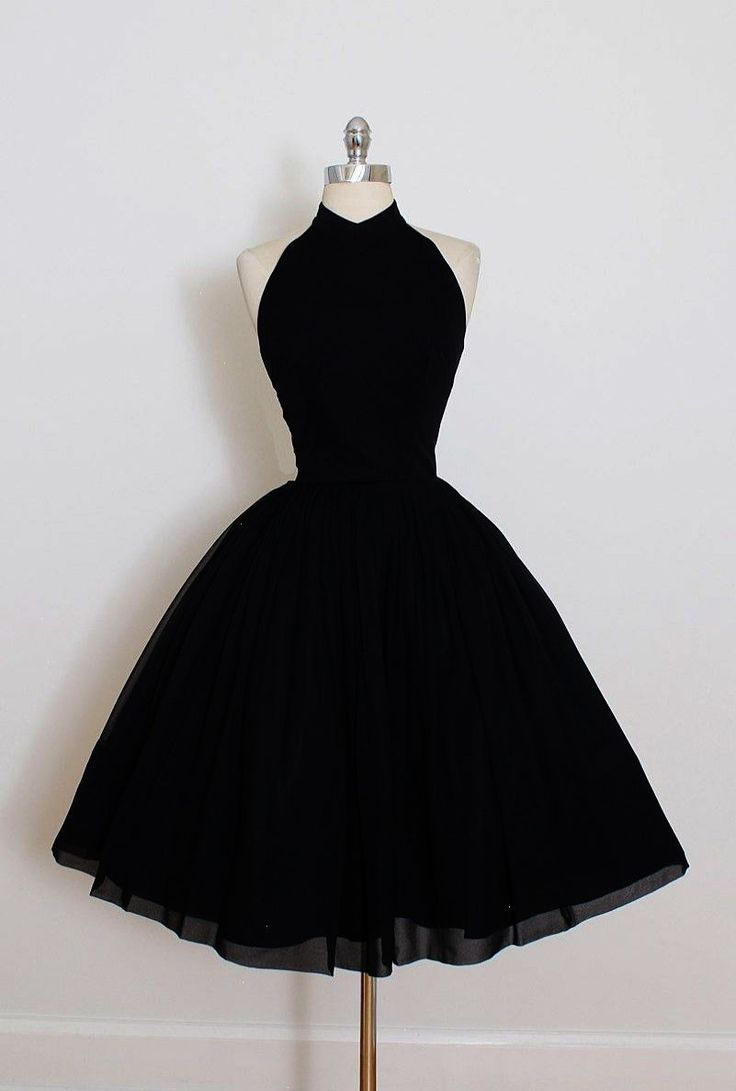 Nice Short Ball Gown Prom Dresses, Black Sleeveless With Pleated ...