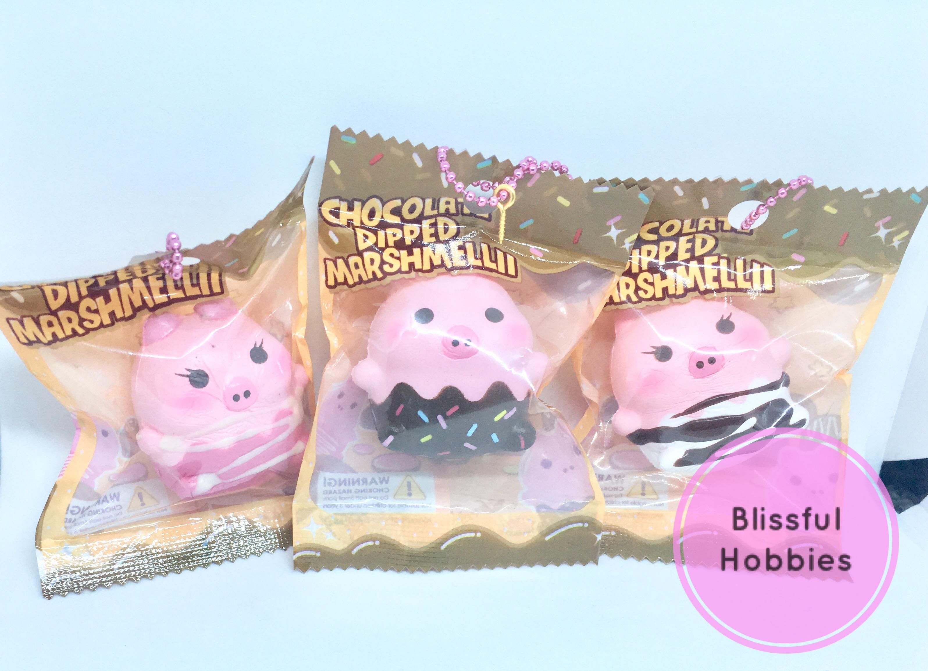 Puni Maru Creamiicandy Mini Dipped Marshmelli Pig squishy · Blissful ...