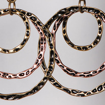 Burnished Gold Triple Hoop Earrings