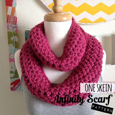 Pdf pattern/instructions one skein infinity scarf